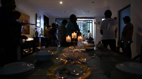 Candle Light in the Home Footage