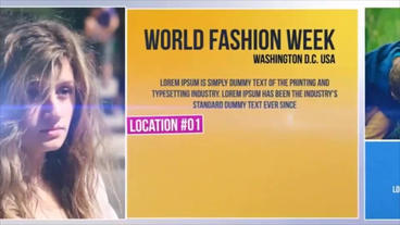 World Fashion Week stock footage