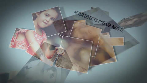 3 D Photo Chunks After Effects Template