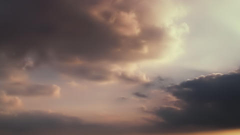 Dark clouds in overcast sky. Landscape floating clouds in high sky. Backdrop Footage