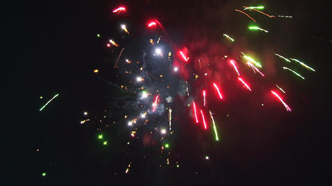 Fireworks, Festive fireworks igniting the sky Footage