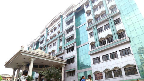Exterior building on Government Hospital Stock Video Footage