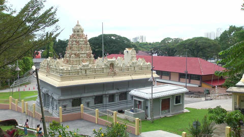 Exterior Traditional Hindu temple in Malaysia. Top angle hindu temple nature Live Action