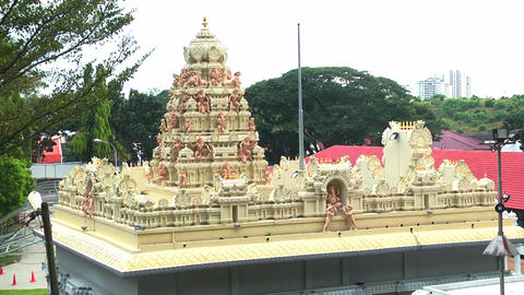 Exterior Traditional Hindu temple in Malaysia Footage