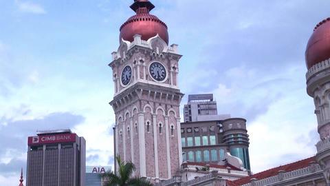Kuala Lumpur city in Malaysia capital, tall buildings Live Action