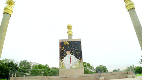 War Memorials in Chennai at India. Rajiv Gandhi Memorial - Rajiv Gandhi, the Footage