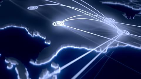 Flight paths North America Live Action