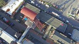 MOERS / GERMANY - JANUARY 03 2016 : Aerial of the historical coal mine buildings Footage
