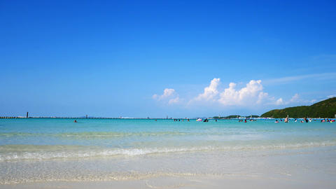 Koh Larn Island. Famous Tourist Attractions and popular Live Action