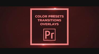 50 Pack: Color Presets, Transitions, Overlays Premiere Pro Template