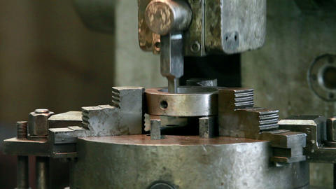 industrial slotting machine Footage
