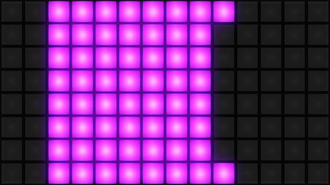 Pink Disco nightclub dance floor wall glowing light grid background vj loop Image
