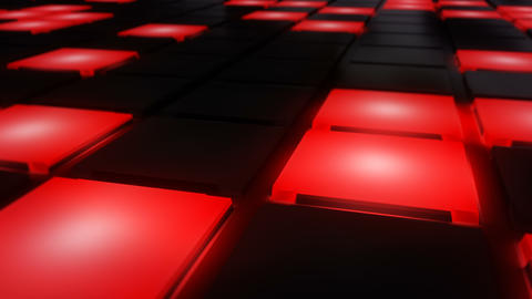 Red Disco nightclub dance floor wall glowing light grid background vj loop Image