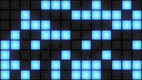Blue Disco nightclub dance floor wall glowing light grid... Stock Video Footage