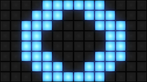 Blue Disco nightclub dance floor wall glowing light grid…, Stock Animation