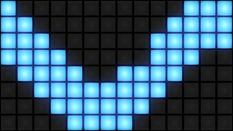 Blue Disco nightclub dance floor wall glowing light grid background vj loop Animation