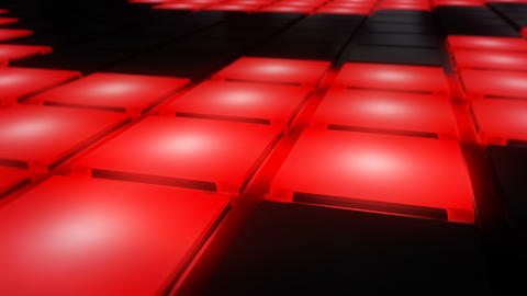 Red Disco nightclub dance floor wall glowing light grid background vj loop Animation