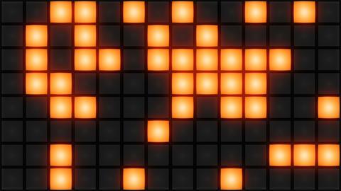 Orange Disco nightclub dance floor wall glowing light…, Stock Animation