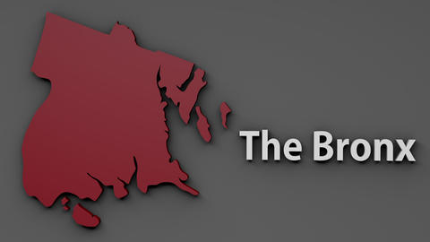 4K The Bronx Map Shape with Matte 3D Animation 1 Animation