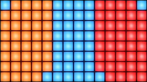 Colorful Disco nightclub dance floor wall glowing light… Stock Video Footage