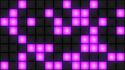 Pink Disco nightclub dance floor wall glowing light grid background vj loop Animation
