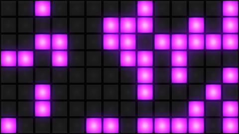 Pink Disco nightclub dance floor wall glowing light grid... Stock Video Footage