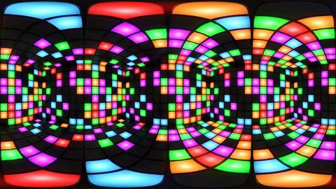 360 VR Colorful disco nightclub dance floor wall light…, Stock Animation