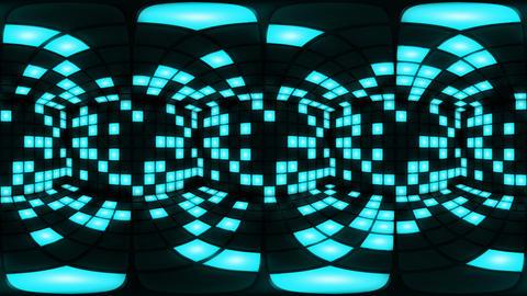 360 VR Blue disco nightclub dance floor wall light grid… Stock Video Footage