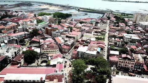 Aerial view of Panama City, Panama Footage