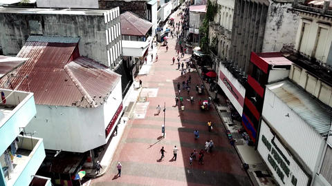 flying drones over the slums of the city of Panama Footage