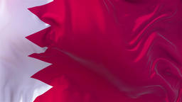 Bahrain Flag in Slow Motion Smooth blowing in wind seamless loop Background Animation