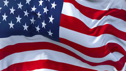 US Flag in Slow Motion Smooth blowing in wind seamless loop Background Animation