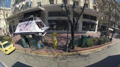 Smooth Ride through Downtown Athens Footage