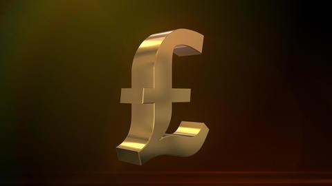 Shiny Spinning British Pound Sign Animation