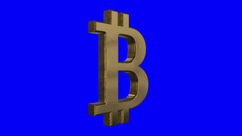 Spinning Bitcoin Sign Screen Animation