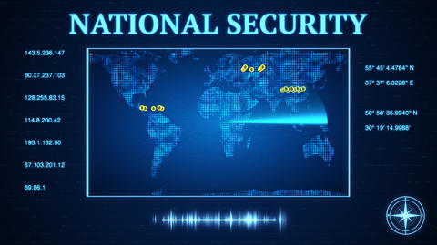Government national security agency cracks down on bitcoin virtual currency CG動画素材