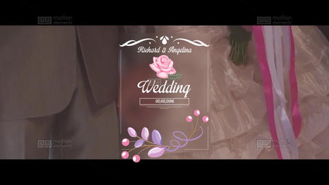 Wedding Title After Effects Template