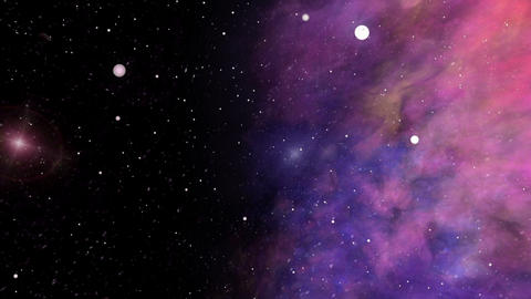 Across the Universe, Nebula and Star Fields Animation