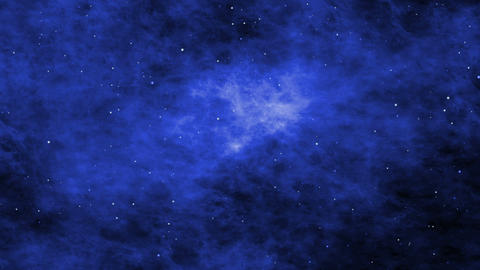 Space Clouds, Stars and Nebula, Journey through the Cosmos Animation
