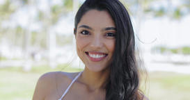 Young smiling model in close-up Footage