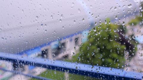 Raindrops on the window Footage