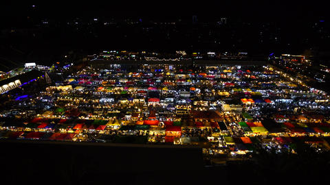 The Train night market Ratchada at Bangkok Thailand in the night time Live Action