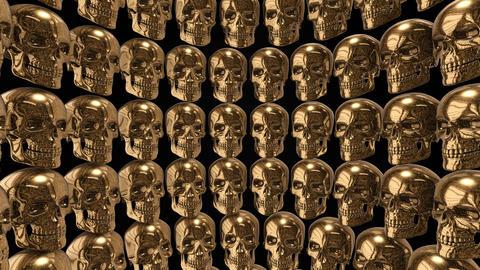 Background from golden skulls Animation