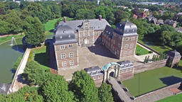 Aerial view of the medieval castle in Ahaus Footage