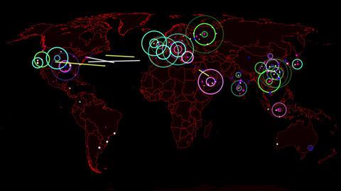 4K Hacker War Super Modern Digital Data Hacking World Map Simulation v1 2 Animation