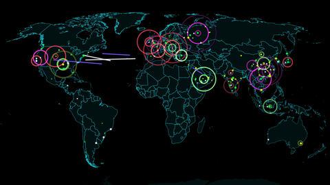 4K Hacker War Super Modern Digital Data Hacking World Map Simulation v1 3 Animation