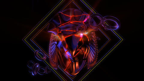 Cracked Horus Head VJ Loop Animation