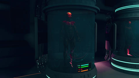 Human Body in Cloning Capsule Cinematic 3D Animation 4 Animation