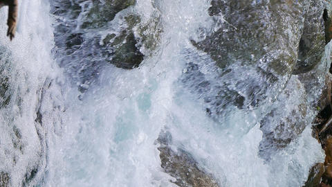 Vertical video. The waters of the Grand Canyon of Crimea Footage
