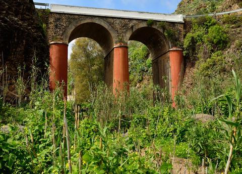 Ravine and bridge, Valsequillo, Gran canaria Fotografía